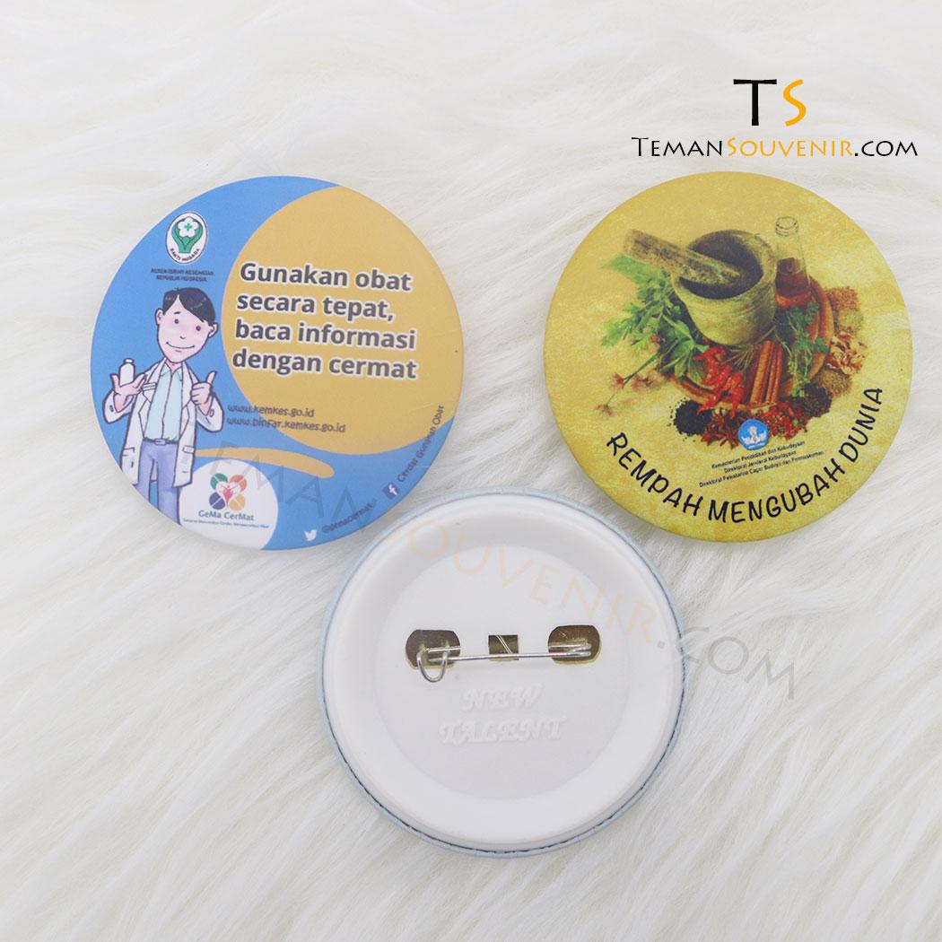 Pin 5,8 cm Doff, barang promosi, barang grosir, souvenir promosi, merchandise promosi