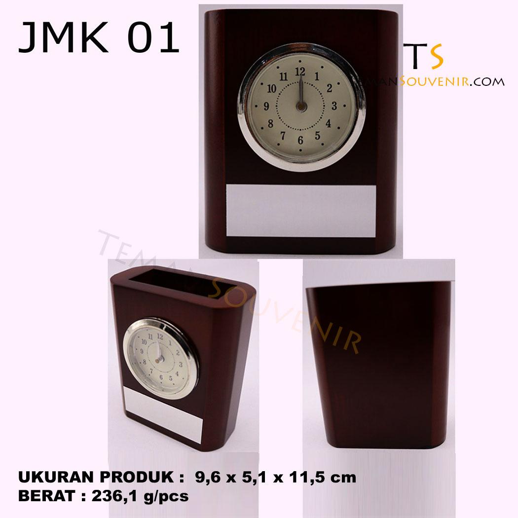 Jam Meja Kayu JMK 01, barang grosir, barang promosi, souvenir promosi, merchandise promosi