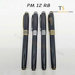 Pen Metal 12 Hitam Gold RB - PM 12 HG RB, barang promosi, barang grosir, souvenir promosi, merchandise promosi