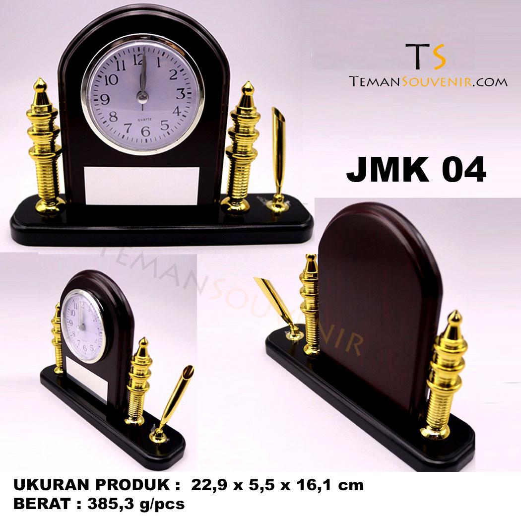 Jam Meja Kayu JMK 05, souvenir promosi, merchandise promosi, barang promosi, barang grosir