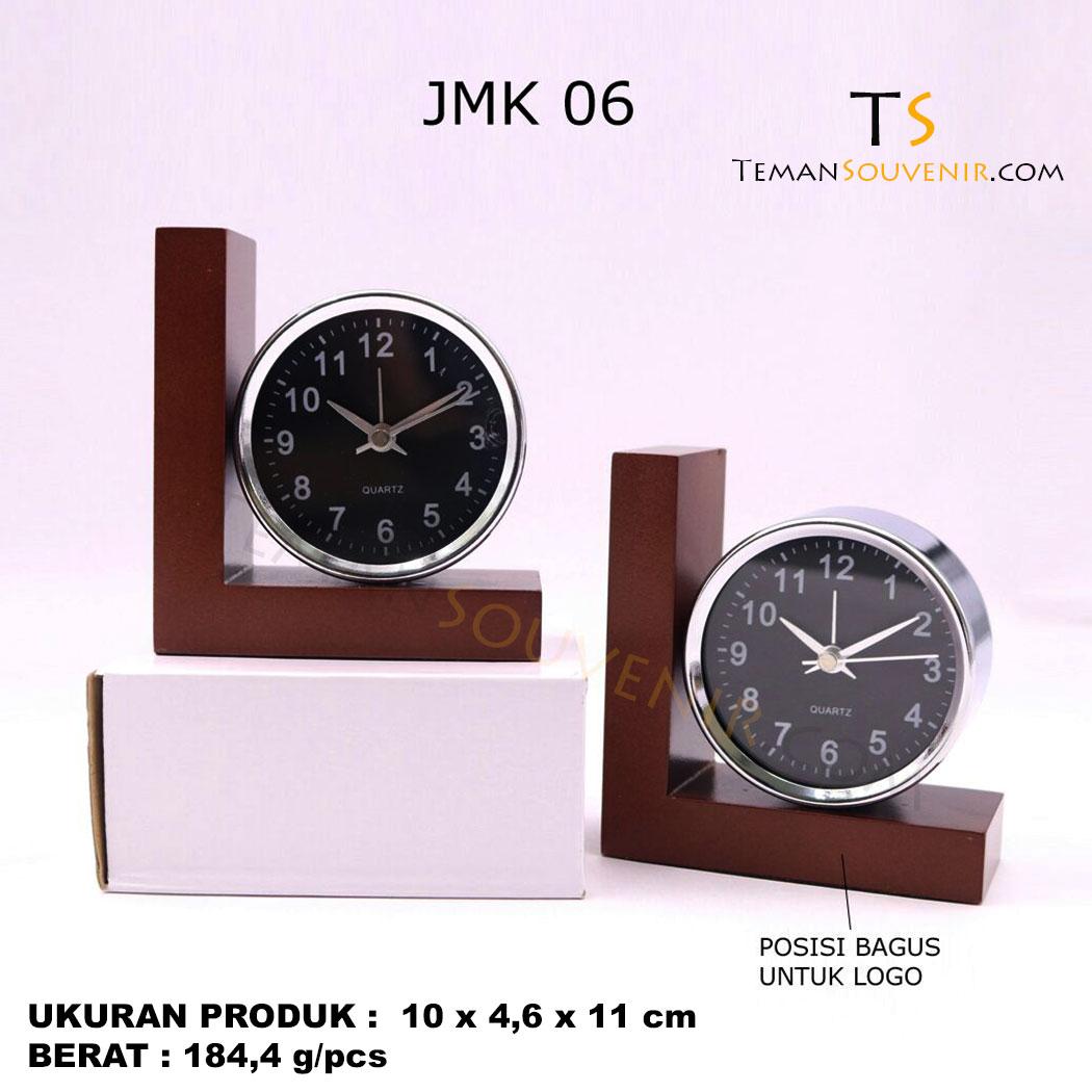 Jam Meja Kayu JMK 06, souvenir promosi, merchandise promosi, barang promosi, barang grosir