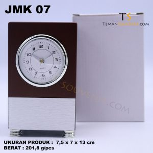 Jam Meja Kayu JMK 07, souvenir promosi, merchandise promosi, barang promosi, barang grosir