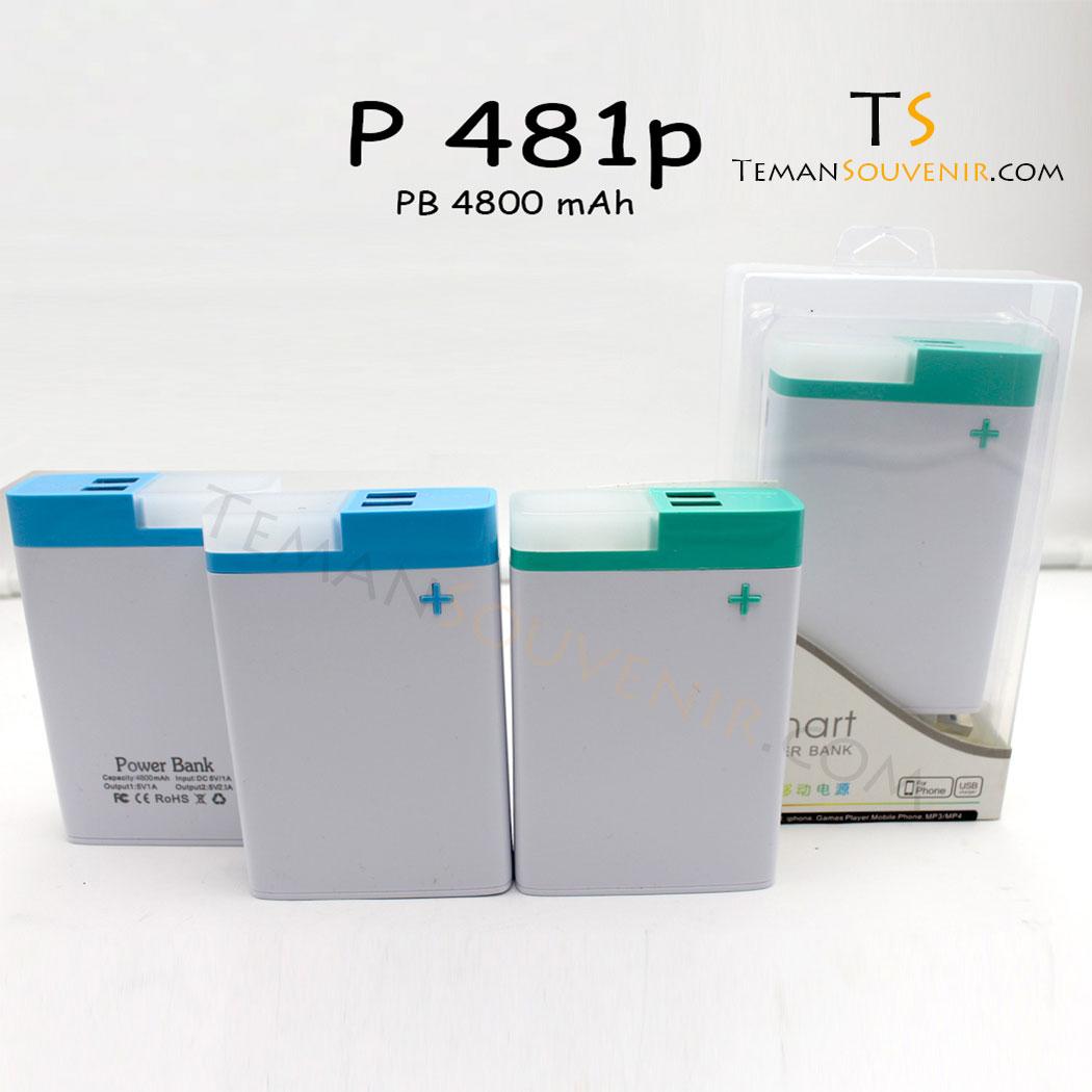 Powerbank P 481 P, barang promosi, barang grosir, souvenir promosi, merchandise promosi