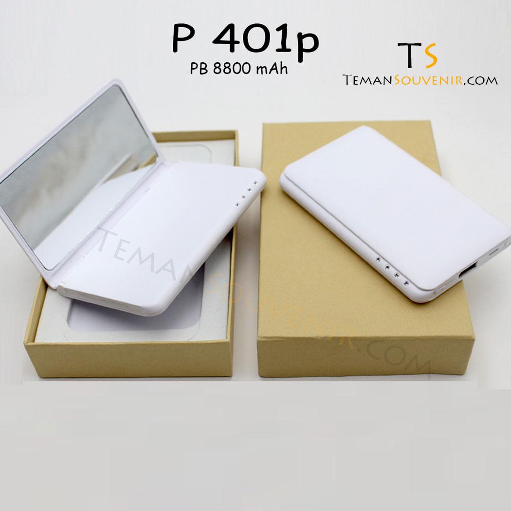 Powerbank P 401 P, barang promosi, barang grosir, souvenir promosi, merchandise promosi