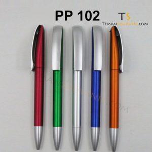 PP 102 - Pen Plastik 102, barang promosi, barang grosir, souvenir promosi, merchandise promosi