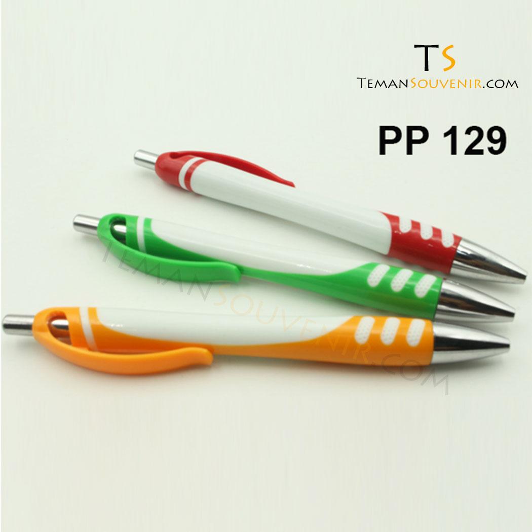 PP 129 - Pen Plastik 129, barang grosir, souvenir promosi, barang promosi, merchandise promosi
