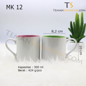 MK 12-Mug Warna Warni Handle Love,souvenir promosi,merchandise promosi,barang promosi,barang grosir