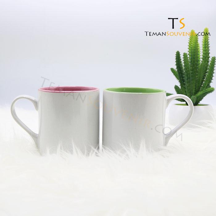 MK 12-Mug Warna Warni Handle Love, barang promosi, barang grosir, souvenir promosi, merchandise promosi