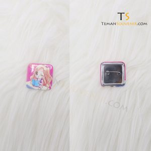 Pin Kotak 3,5 cm Glossy, barang promosi, barang grosir, souvenir promosi, mercchandise promosi