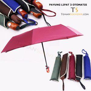 Payung Lipat 3 Otomatis, barang promosi, barang grosir, souvenir promosi, merchandise promosi
