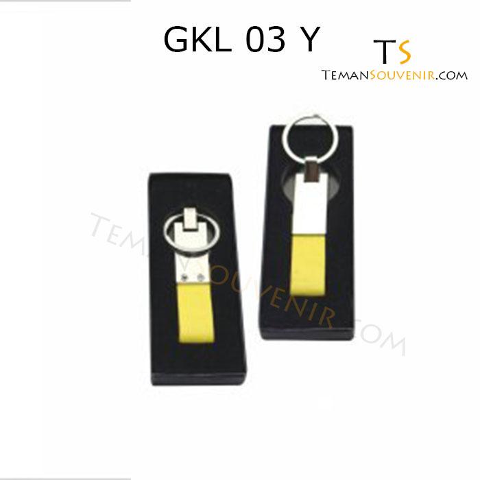 Gantungan kunci Kulit Promosi kode GKL 03 Y, barang promosi, barang grosir, souvenir promosi, merchandise promosi