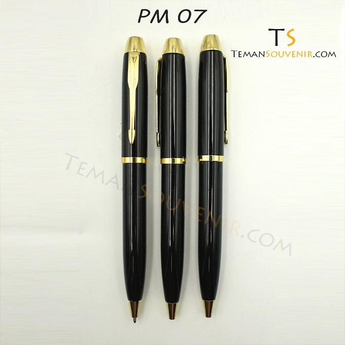 Pen Metal Hitam Gold – PM 07 HG