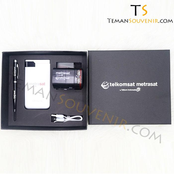 giftset 3 in 1-telkomsat metrasat, merchandise promosi, barang grosir