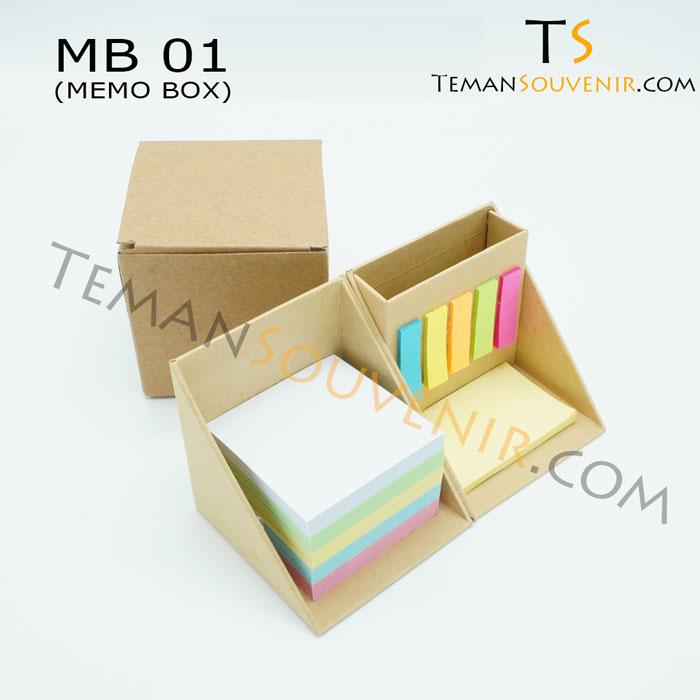 Memo Box - MB 01,souvenir promosi,merchandise promosi,barang promosi,barang grosir
