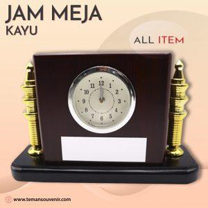 Jam Meja Kayu